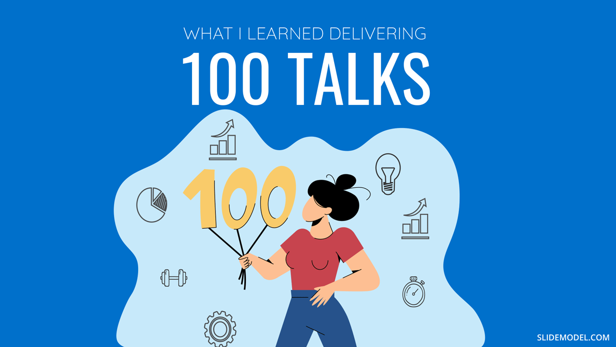 What I Learned After Delivering 100 Talks in 1 Year PPT Template