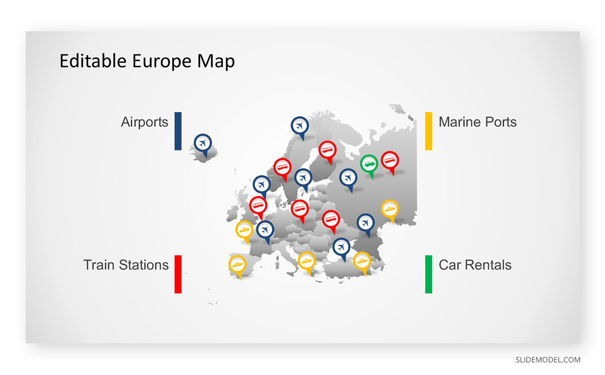 Editable Europe Map PPT Template