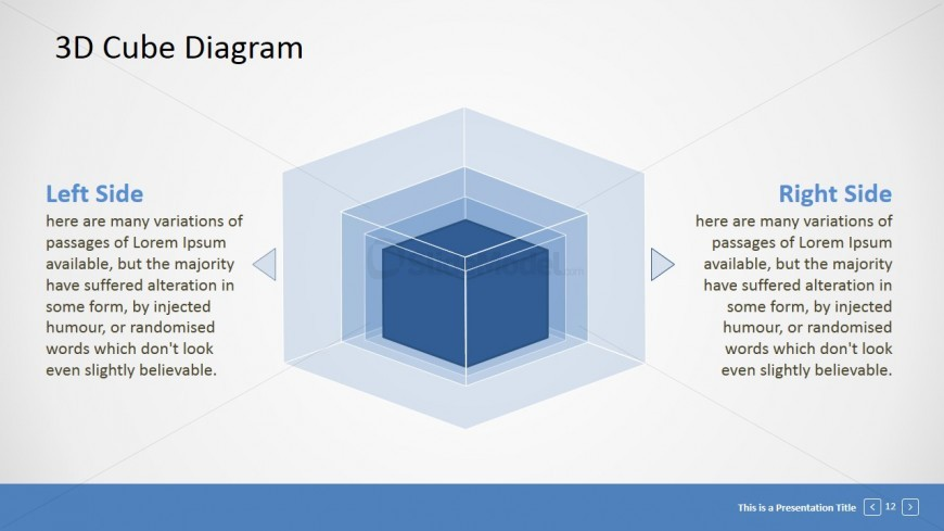 PPT Template Cube Diagram
