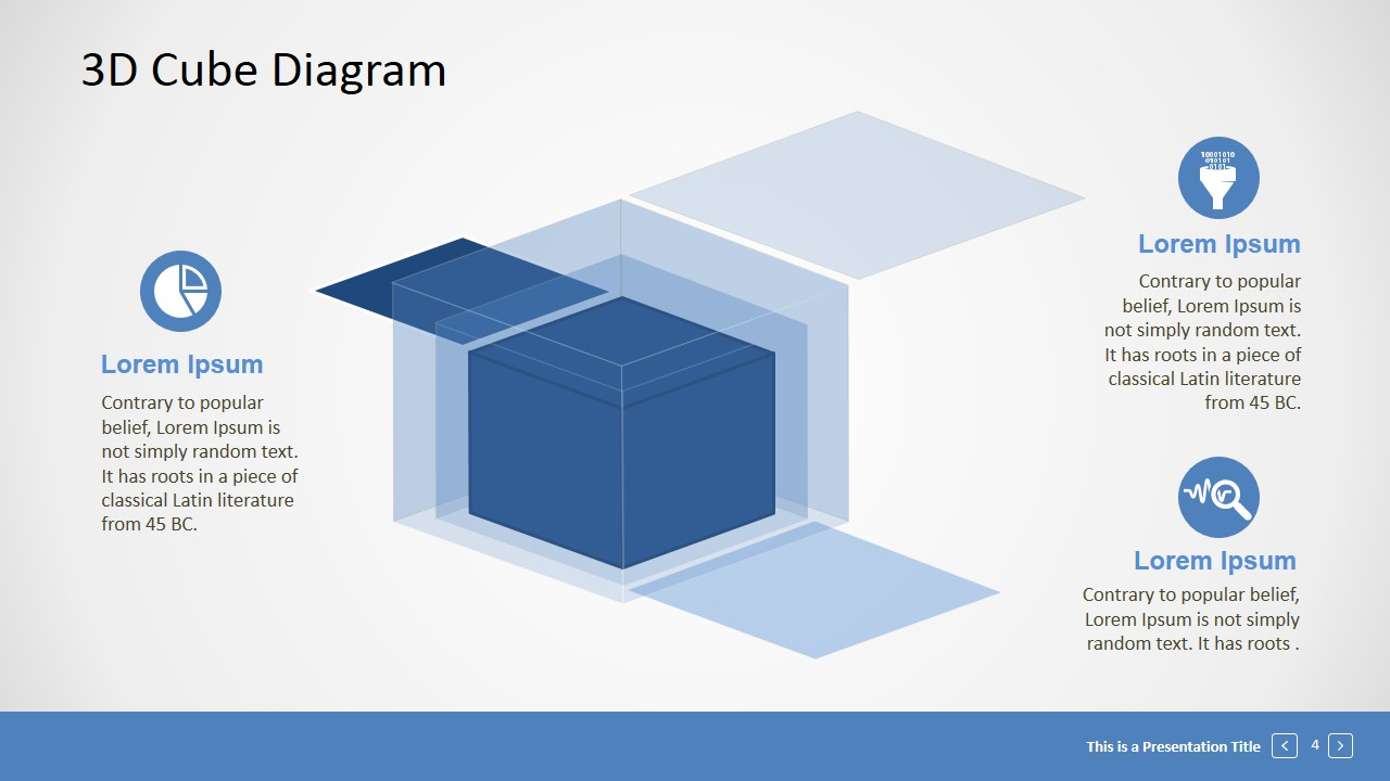 Editable 3D Cube Presentation Template - SlideModel