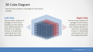 PowerPoint Animated 3D 4x4x4 Blocks Matrix