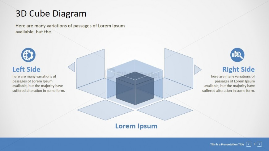 PowerPoint 3D Cube Decomposed Into Layers