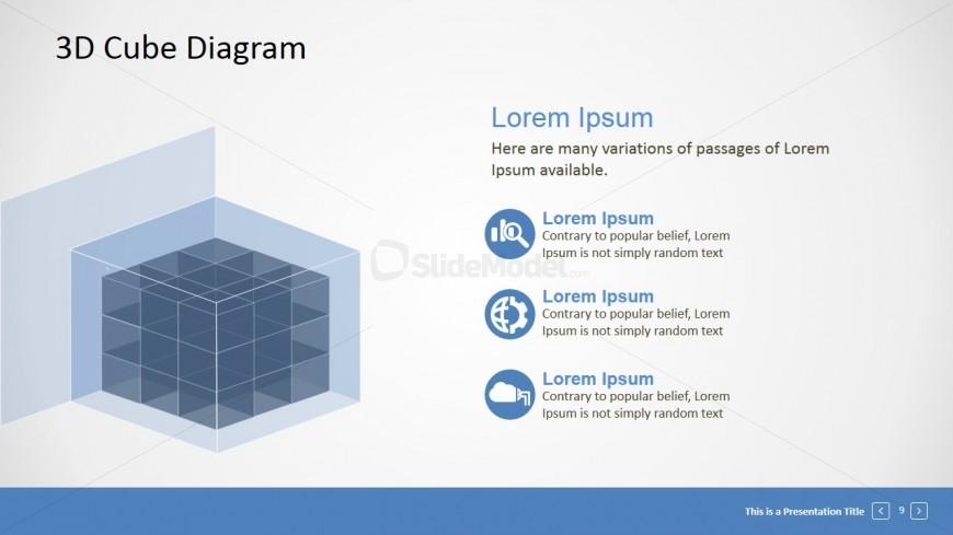 transparent 3d block diagram for powerpoint slidemodel. Black Bedroom Furniture Sets. Home Design Ideas