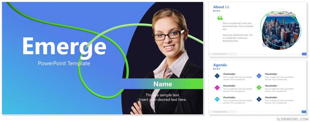 Emerge PowerPoint theme design
