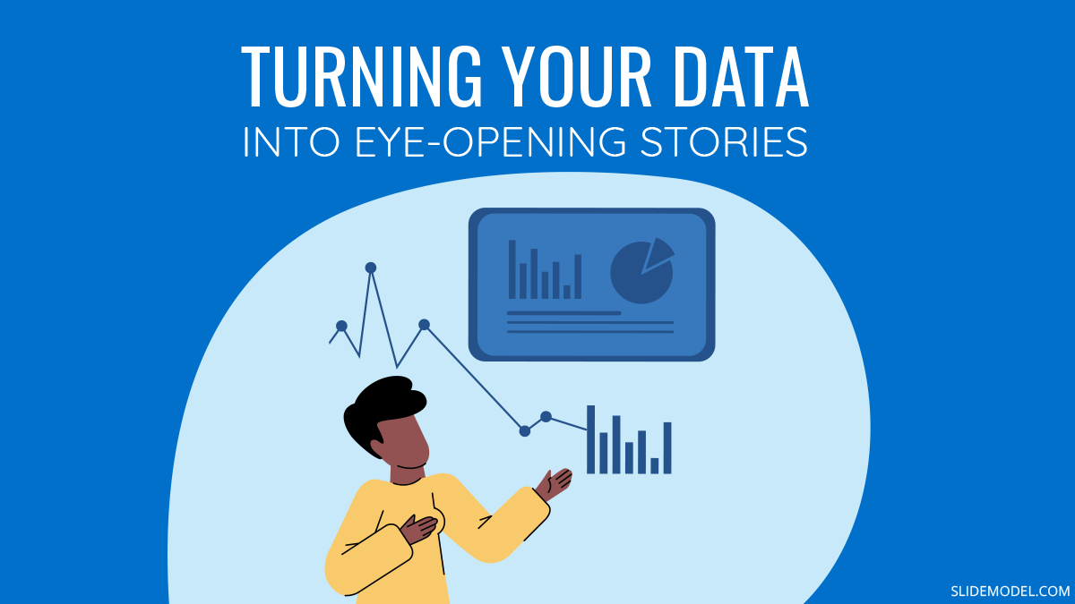 Turning Your Data into Eye-opening Stories PPT Template