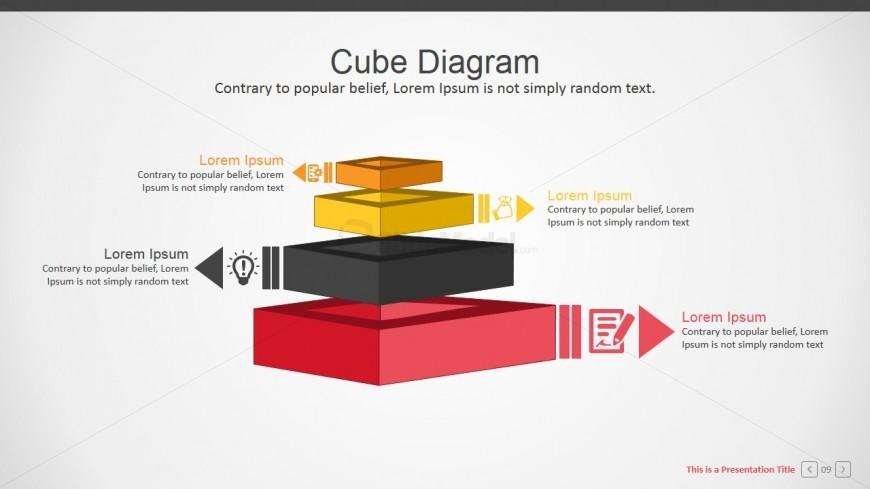 3D Cubes PowerPoint Diagram Flat Design