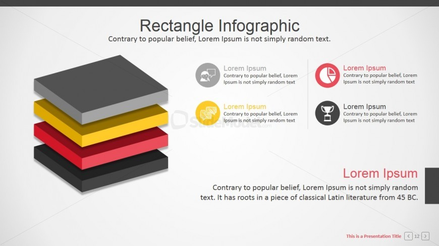 3d Flat Design Layers Infographic For Powerpoint Slidemodel