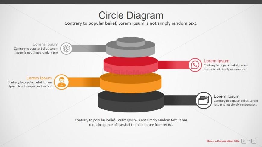 PowerPoint Diagram Gradient Cylinders