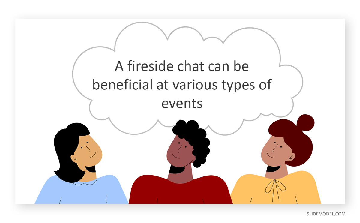 Fireside Chats People Together PPT Template