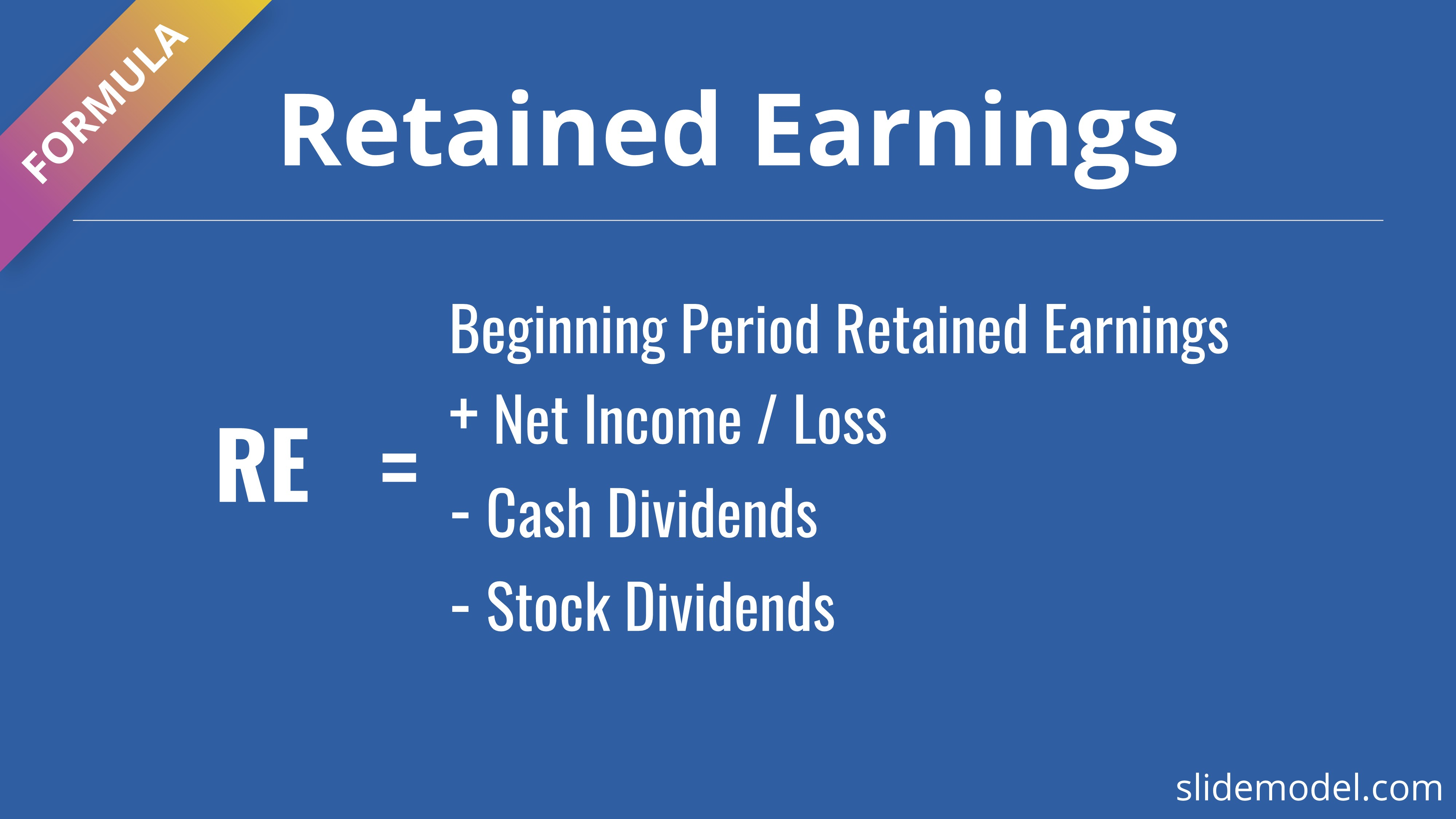 PowerPoint template retained earnings