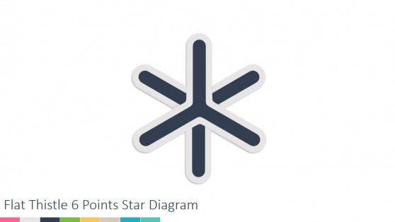 Six Steps Star Diagram for PowerPoint