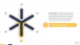 Flat Design Six Steps Star PowerPoint Diagram