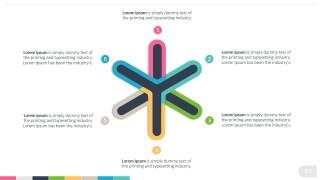 PowerPoint Six Points Thistle Shape Diagram