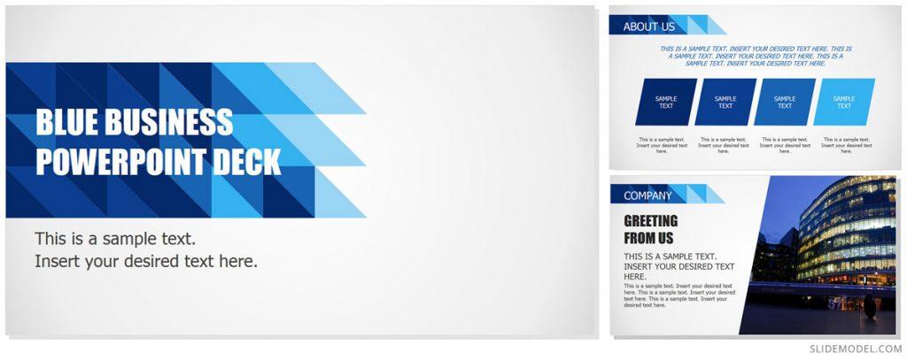 Blue Business PowerPoint Deck