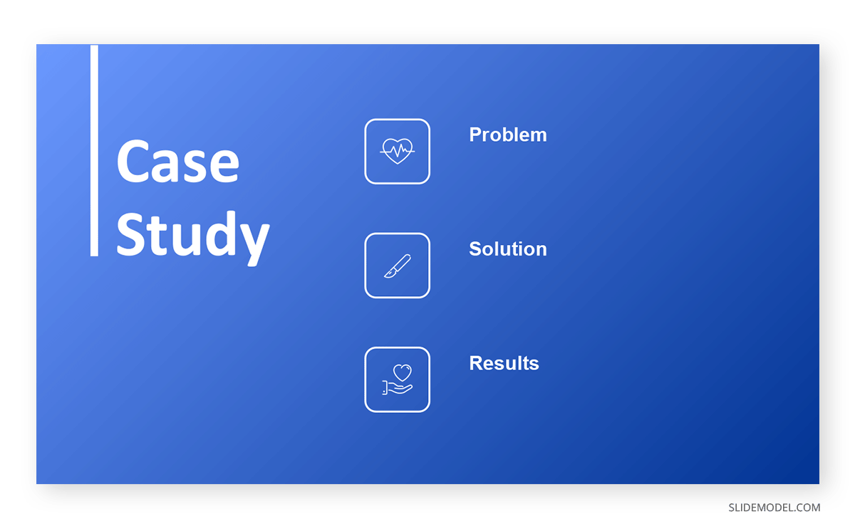 Case Study Medical Example PPT Template