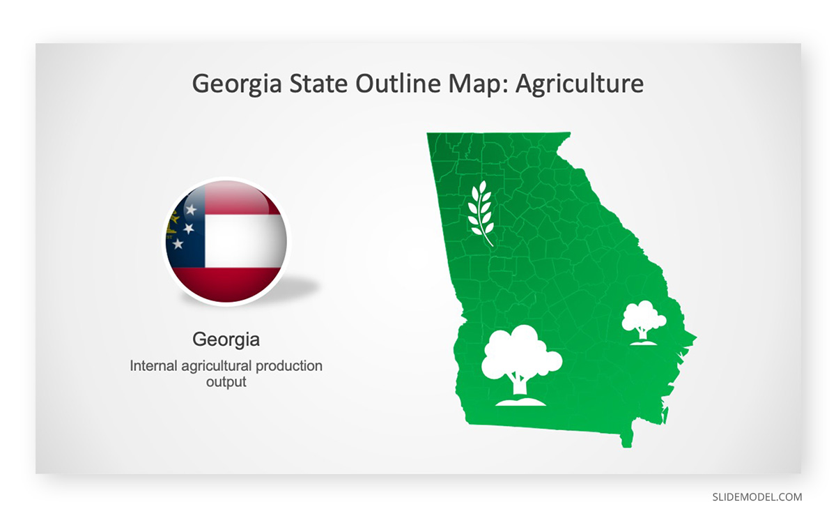 Map of Georgia PPT Template