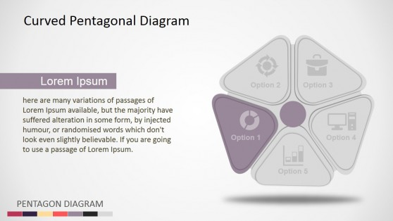 Five Steps Pentagon PowerPoint Diagram