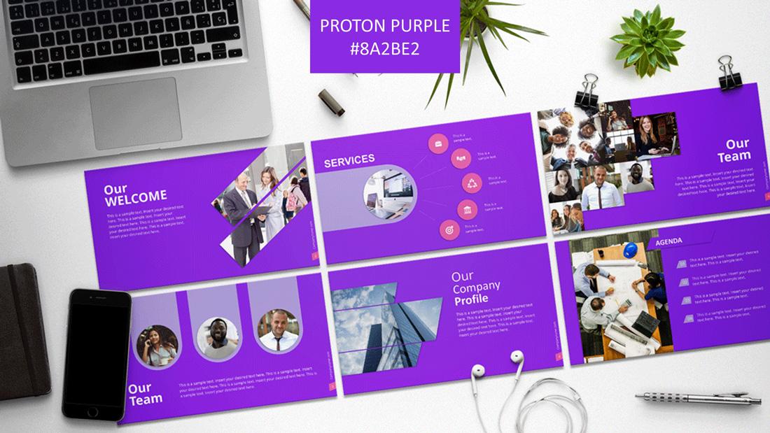 PPT Template Proton Purple