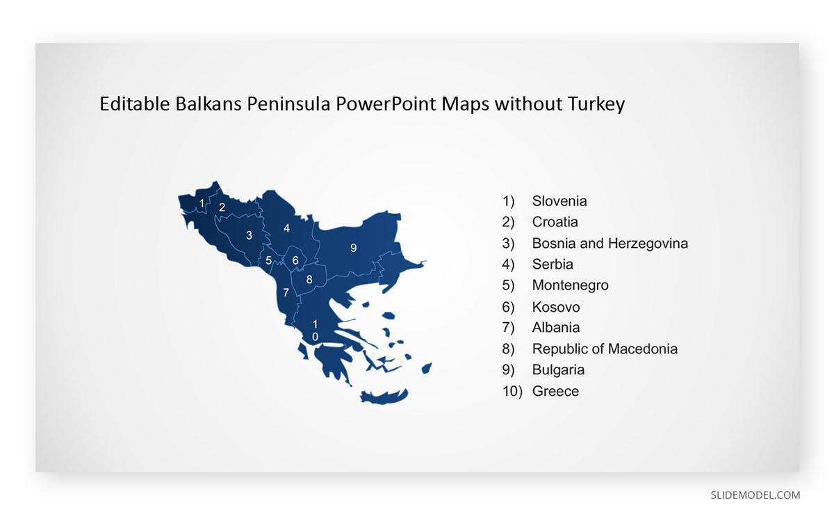 Balkans Map PPT Template