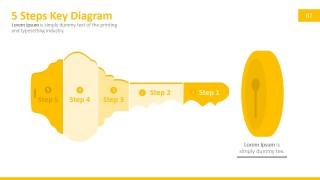 5 Steps Key Shape PowerPoint Template