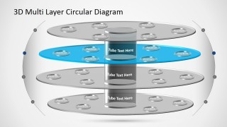 PowerPoint Diagram Template 3D Circular Layers