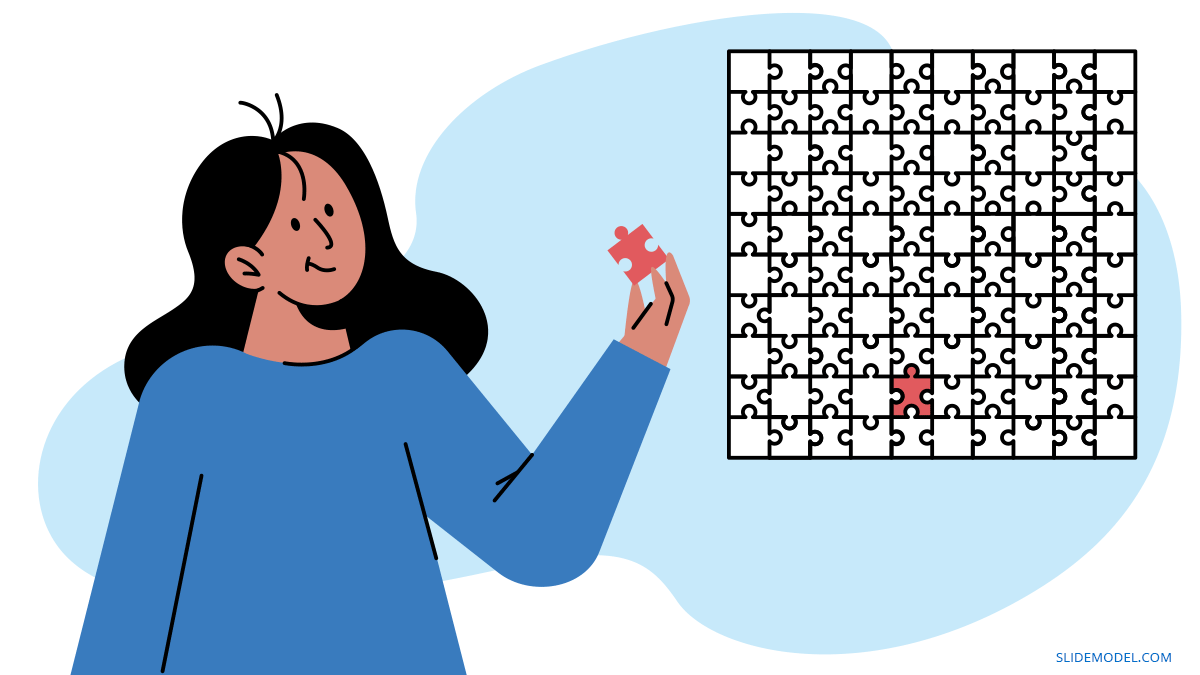 Woman With Puzzle Availability Cognitive Bias  PPT Template