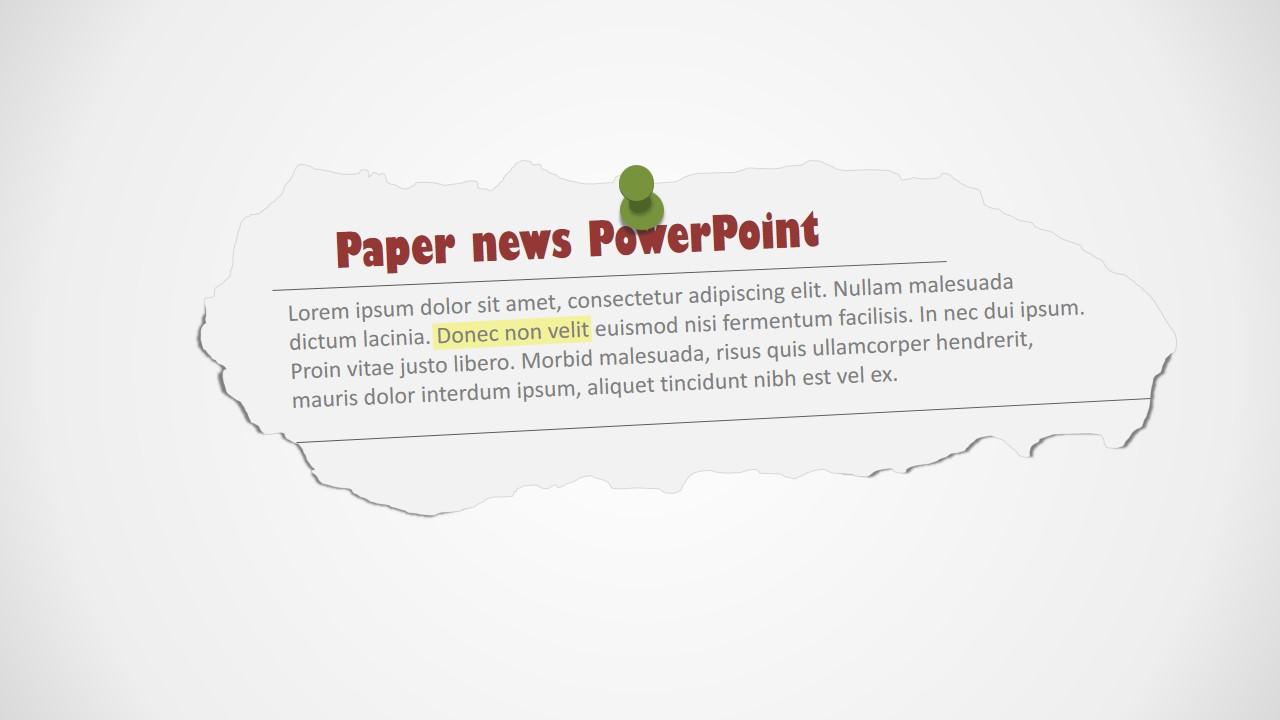 newspaper clipping powerpoint shapes slidemodel. Black Bedroom Furniture Sets. Home Design Ideas