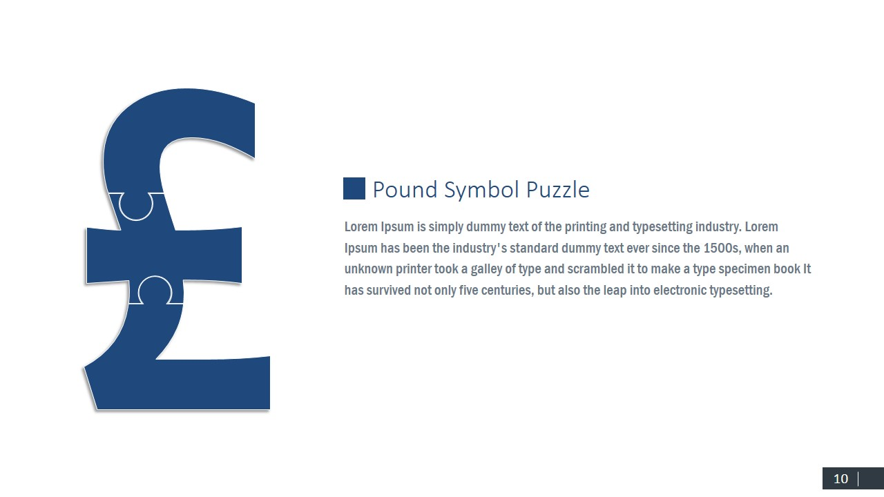 Currency Pound Symbol Puzzle Design