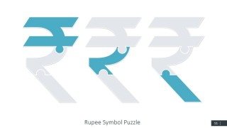 Download PowerPoint Rupee Puzzle Symbol