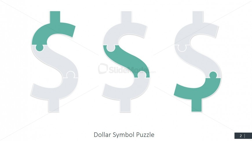 PPT Template Dollar Symbol Puzzle