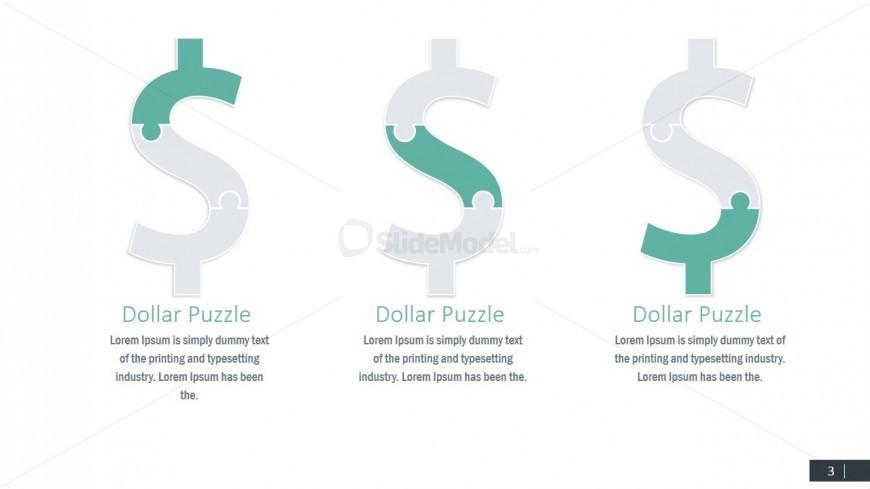 Puzzle Clipart of Money PPT Design