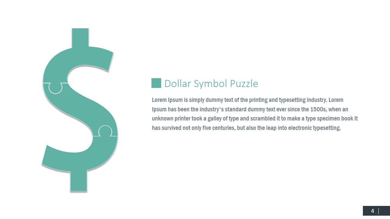 Currency symbols puzzle shapes for powerpoint slidemodel dollar money powerpoint template biocorpaavc Choice Image