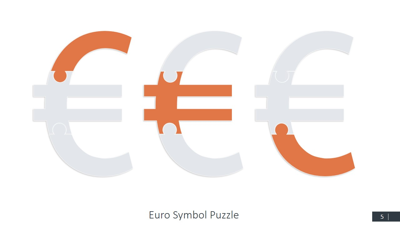 Currency symbols puzzle shapes for powerpoint slidemodel euro jigsaw ppt slide design buycottarizona Choice Image