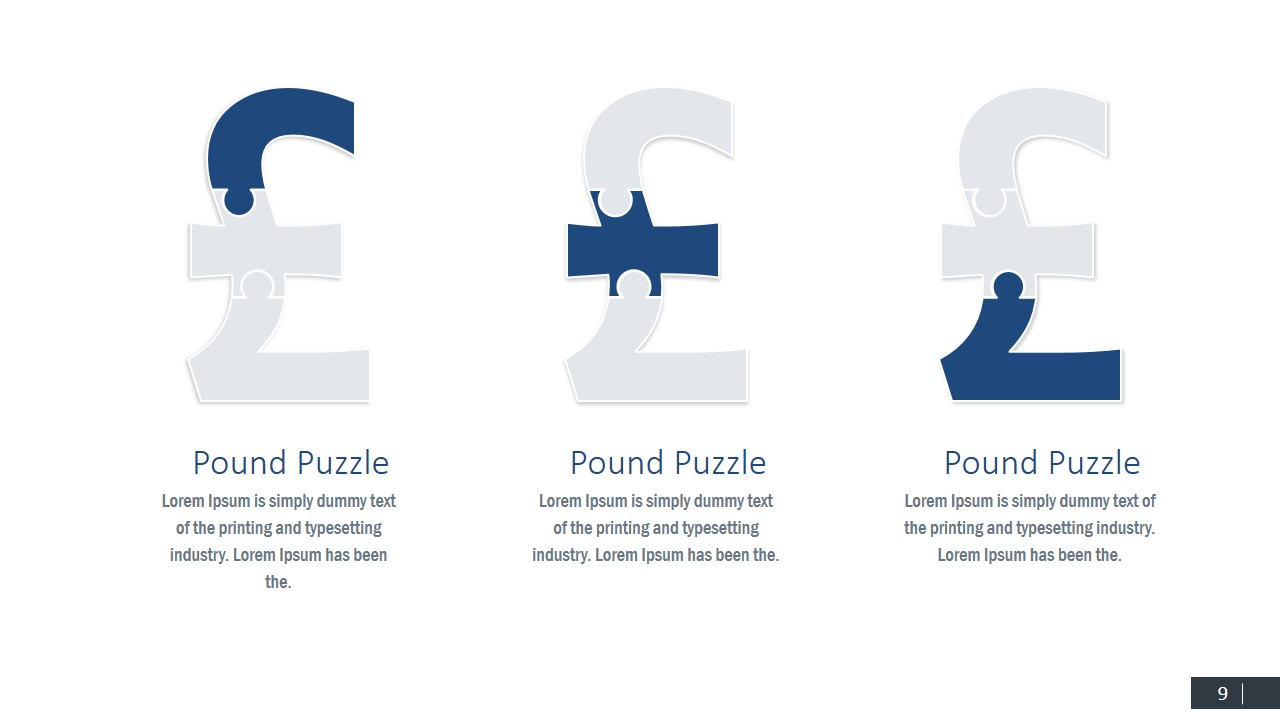 Pound Symbol Puzzle PowerPoint Shapes