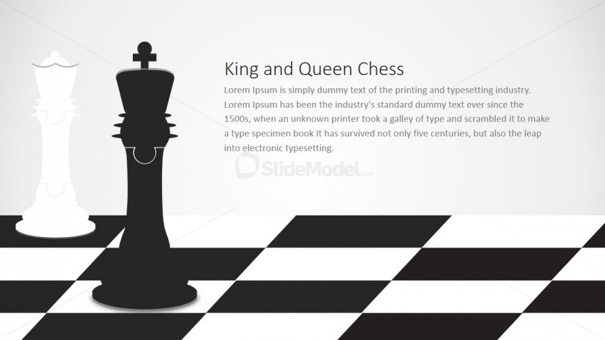 PowerPoint Chess King and Queen Jigsaw Design