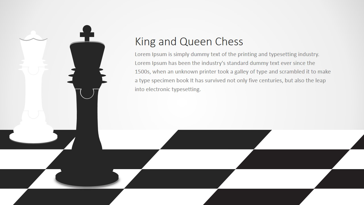 king and queen chess puzzle shapes for powerpoint