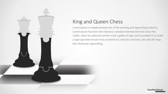 Jigsaw Design of Chess King and Queen