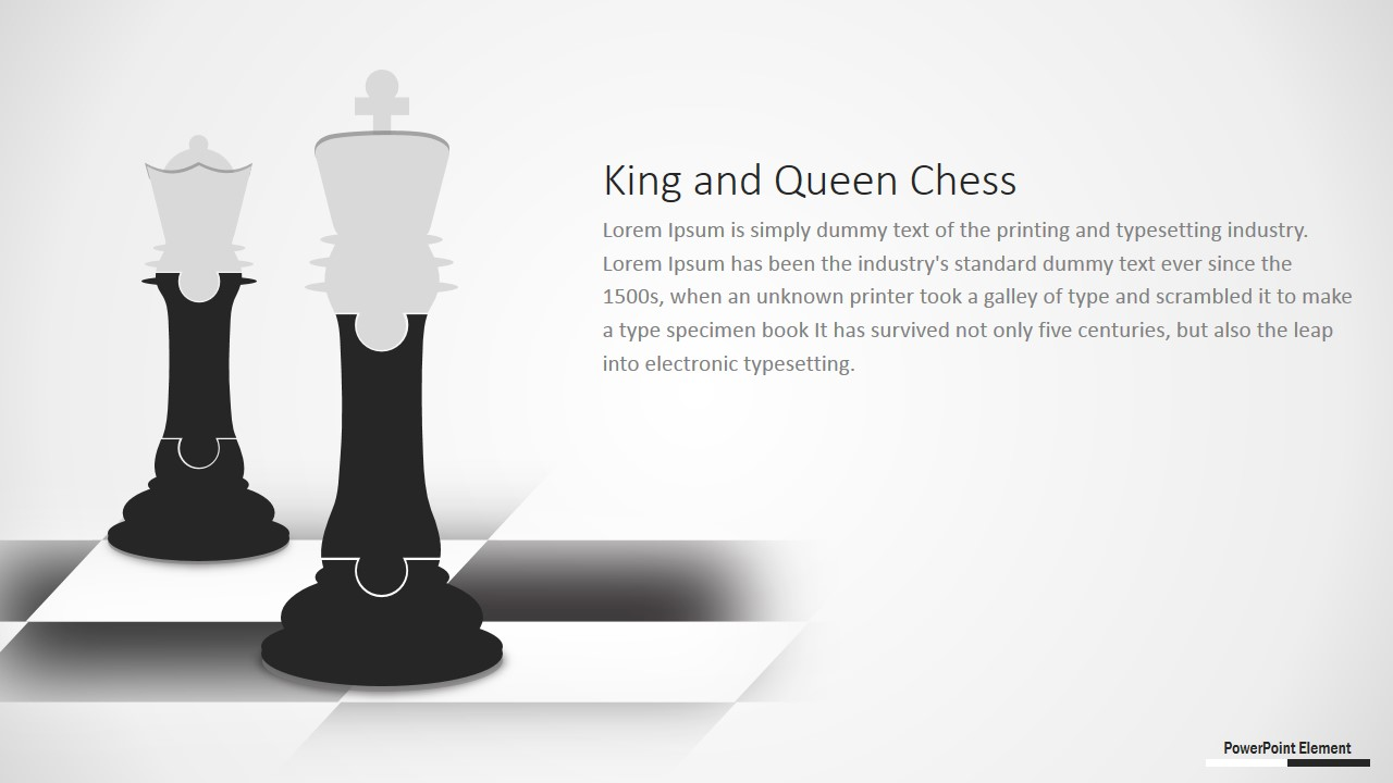 Chess Pieces in Puzzle Design