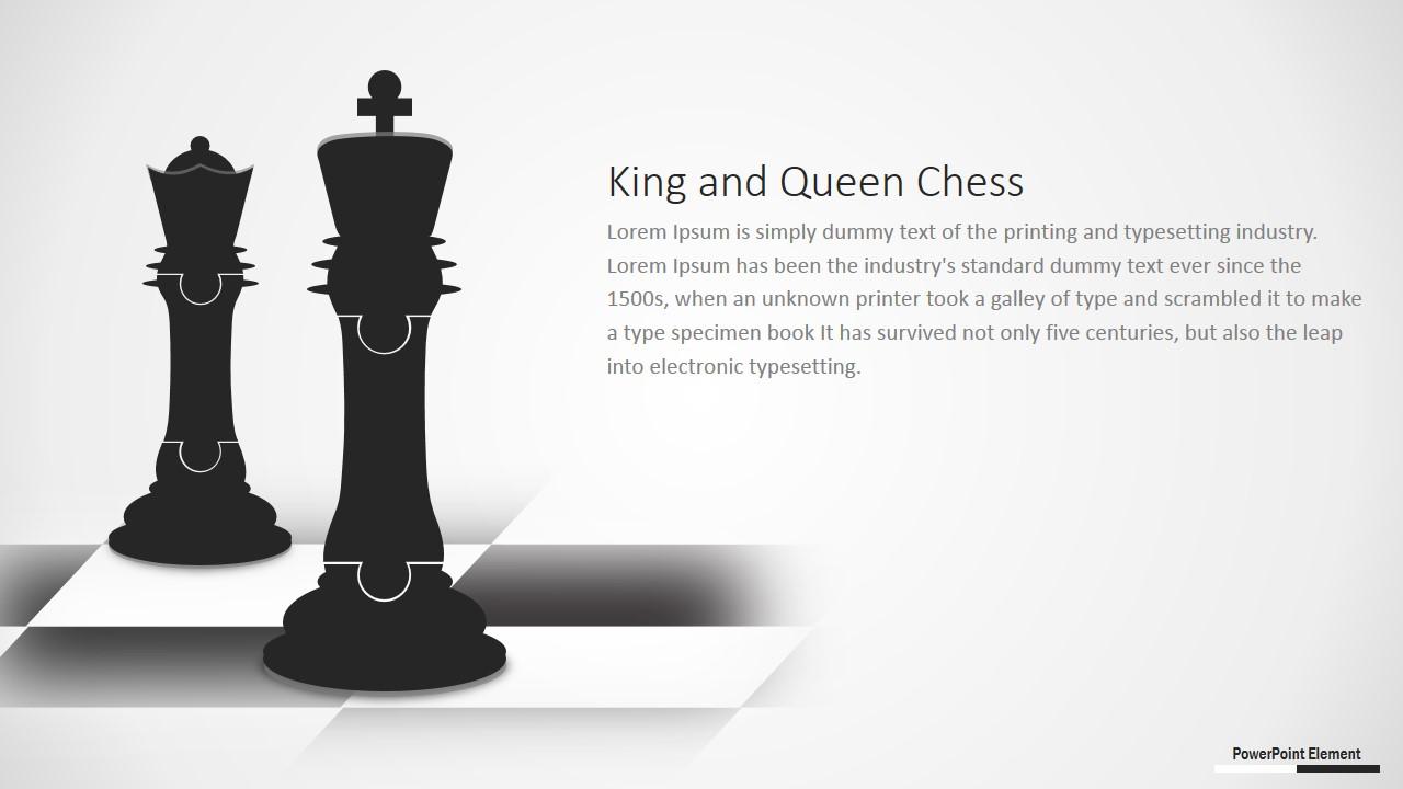 PowerPoint Jigsaw Design of Chessboard