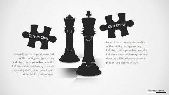 Puzzle Pieces Chess PPT Design