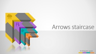 3D Arrows Stairs PowerPoint Diagrams