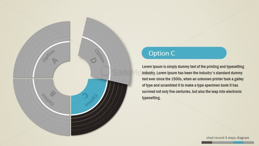 PowerPoint Editable Vinyl Records Shapes