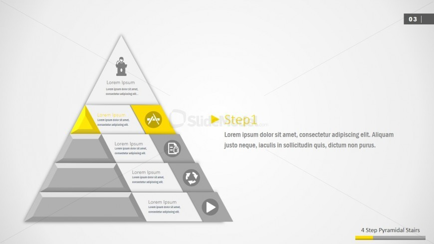 3D Pyramid PPT Template