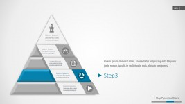 Pyramid PowerPoint Template Four Segments