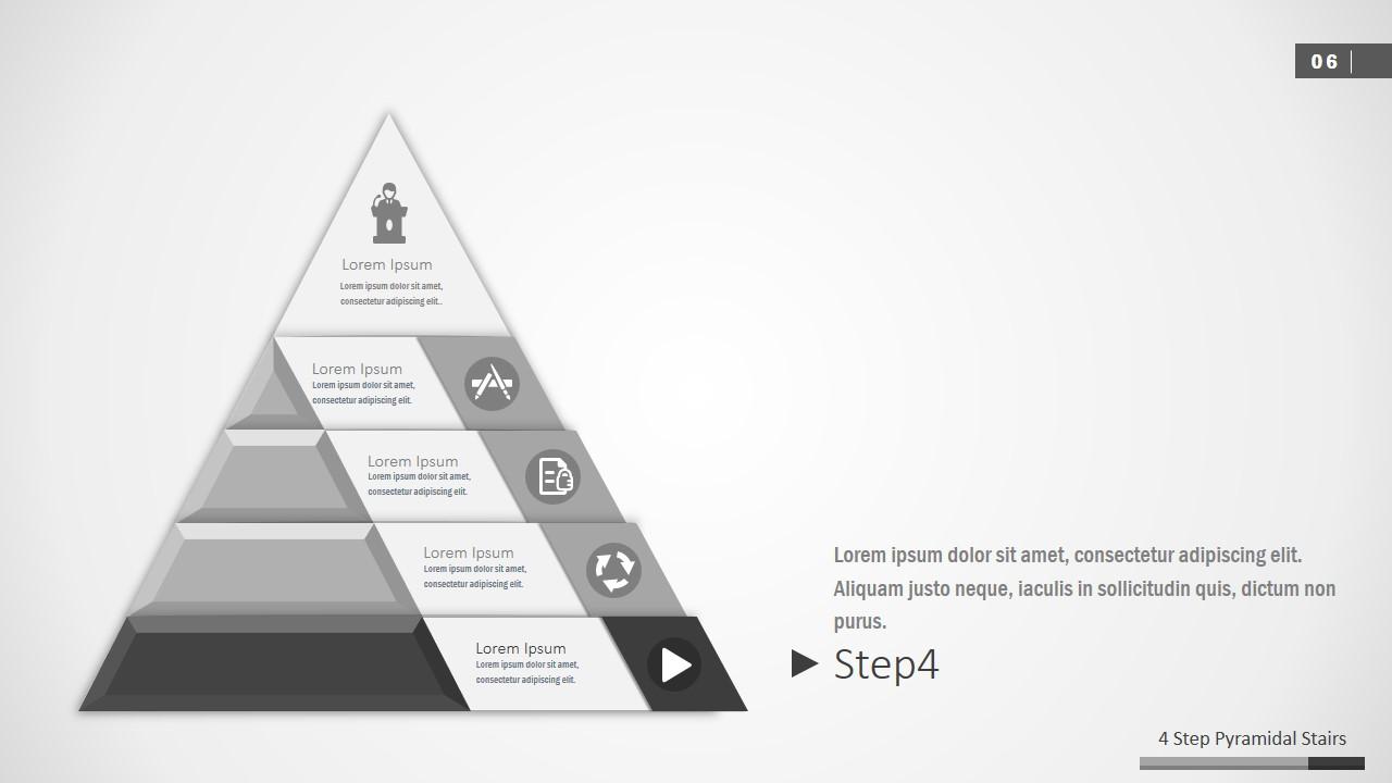 4 Segments 3D Pyramid Template