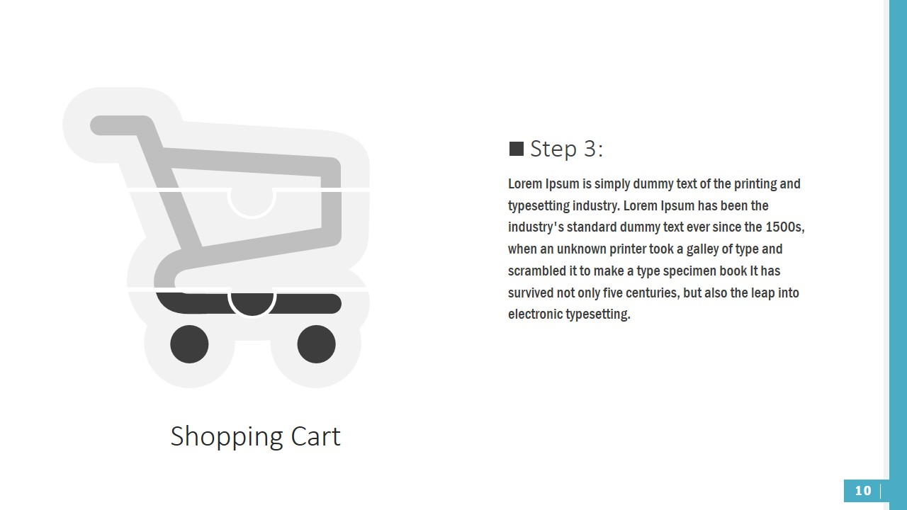 PowerPoint Shopping Cart Shapes