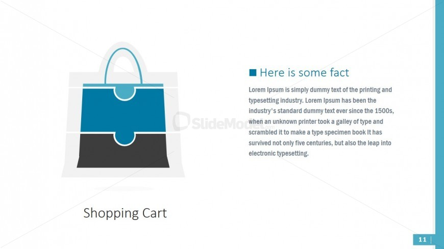 PowerPoint Theme Shopping Bag Puzzle
