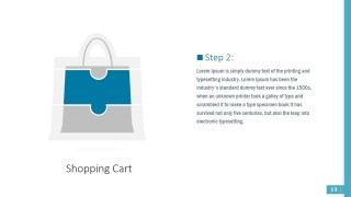 PPT Template Retail Shopping Bag Puzzle