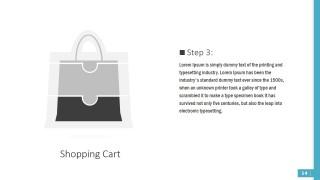 PPT Diagram Puzzle Shapes Shopping Bag