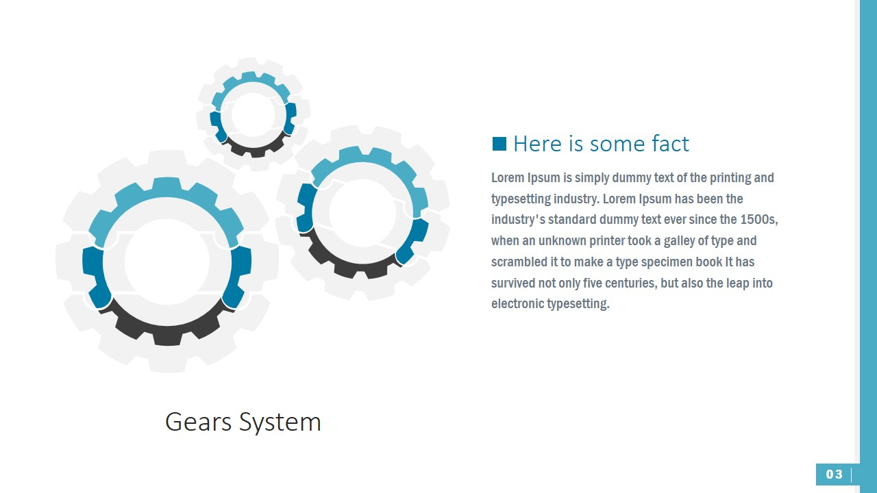 PowerPoint Shapes of Gears with Jigsaw Puzzle Pieces